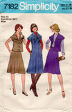 Simplicity 7182 Womens Yoked Dress Top Bias Skirt & Scarf 1970s Vintage Sewing Pattern Size 10 or 12 UNCUT Factory Folds