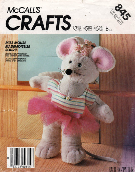 McCall's 845 mouse toy 80s