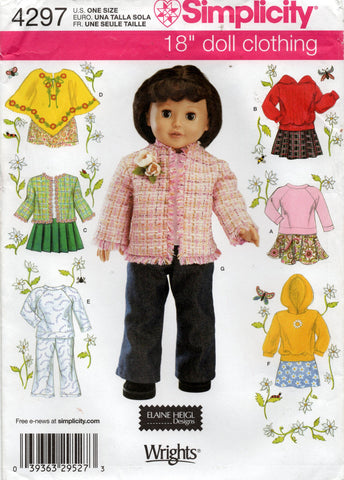 simplicity 4297 doll clothes