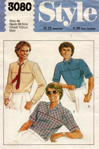 style 3080 mens 80s shirt