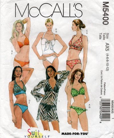 McCall's 5400 swimsuits oop