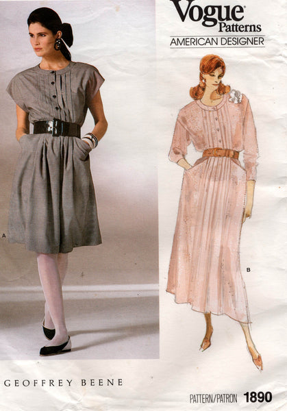 vogue 1890 80s geoffrey beene dress