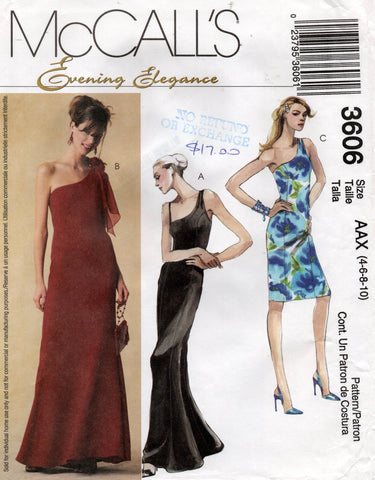 McCall's 3606 one shoulder dress