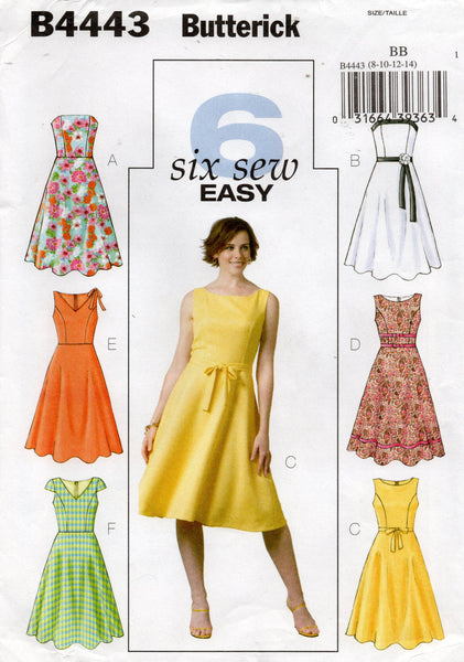 butterick 4443 oop dress