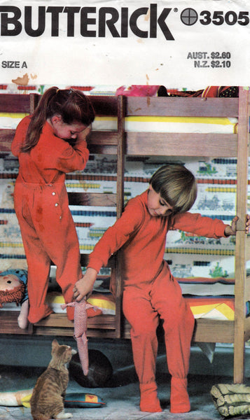 butterick 3505 toddlers pajamas