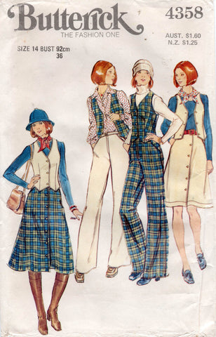 butterick 4358 70s separates