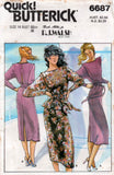 Butterick 6687 NICOLE MILLER Womens Dress or Top with Shoulder Flanges & Skirt 1980s Vintage Sewing Pattern Size 8 or 14