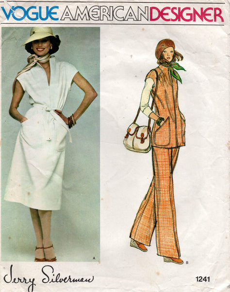 vogue 1241 jerry silverman top dress and pants 70s