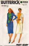 butterick 3062 80s top and skirt