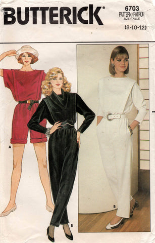 butterick 6703 80s jumpsuit