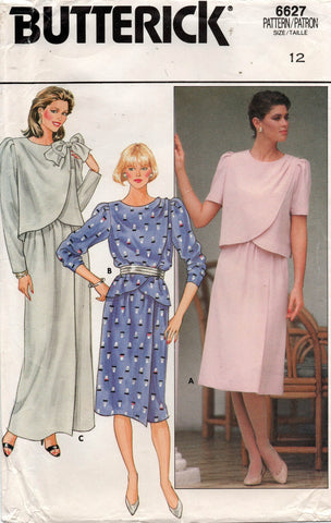 butterick 6627 80s top and skirt