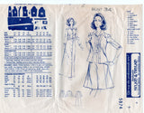 Mail Order 5874 Womens Maxi Shirtdress Cardigan Blouse & Skirt 1970s Vintage Sewing Pattern Size 12 Bust 34 inches UNUSED Factory Folds