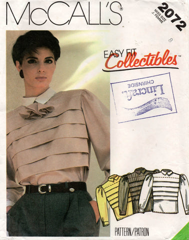 McCall's 2072 80s blouse