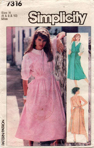 simplicity 7316 80s dress and blouse