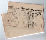 Simplicity 6272 Womens Pin Tucked Dress or Blouse Pants & Skirt 1960s Vintage Sewing Pattern Size 12 Bust 32 inches UNUSED Factory Folded