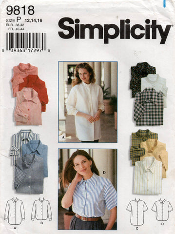 simplicity 9818 classic 90s shirts