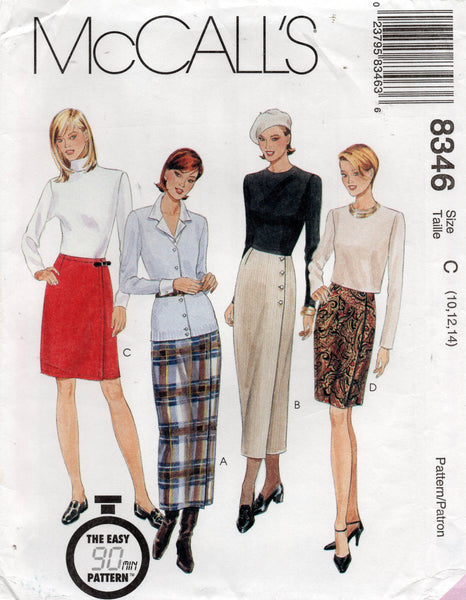 McCall's 8346 oop wrap skirts