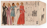 Vogue 8447 Womens Wrap Robe Nightgown & Pajamas 1970s Vintage Sewing Pattern Size 10 Bust 32 1/2 Inches