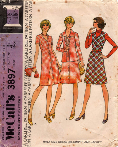 McCall's 3897 70s dress and jacket