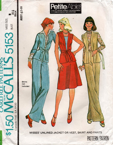 McCall's 5153 70s separates