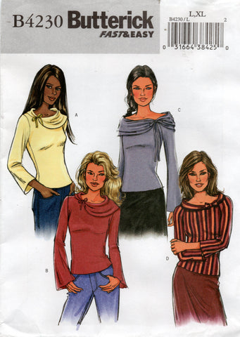 butterick 4230 stretch tops oop