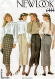 new look 6444 90s straight skirts