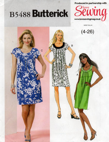 butterick 5488 oop dress