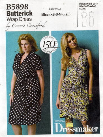 butterick 5898 oop wrap dress