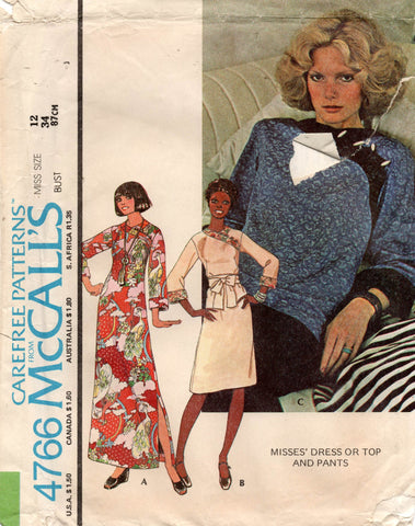 McCall's 4766 70s wrap top dress and pants