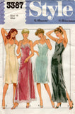 Style 3387 Womens Full Slips in 2 Lengths 1980s Vintage Sewing Pattern Size 12 or 18