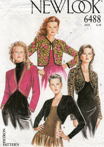 new look 6488 80s bolero jackets