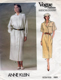 vogue 1531 anne klein dress 80s
