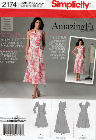 simplicity 2174 amazing fit dress