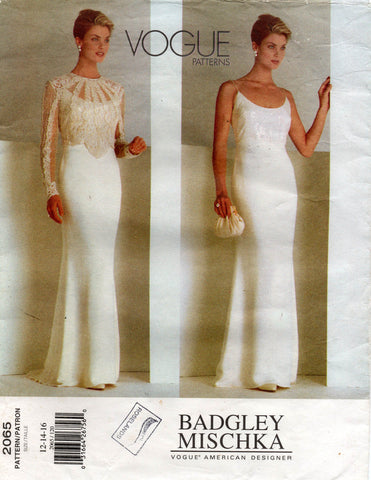 vogue 2065 badgley mischka 90s dress and top