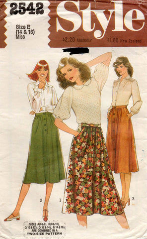 style 2542 80s skirts