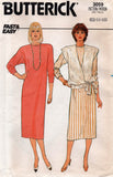 butterick 3059 80s dress and vest