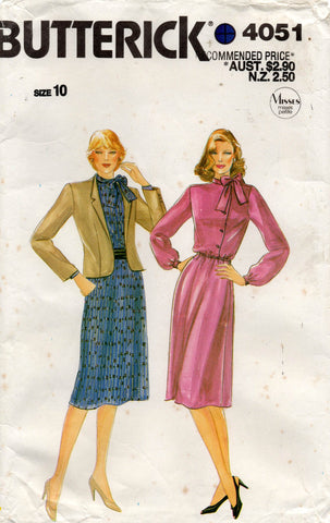 butterick 4051 80s dress and jacket