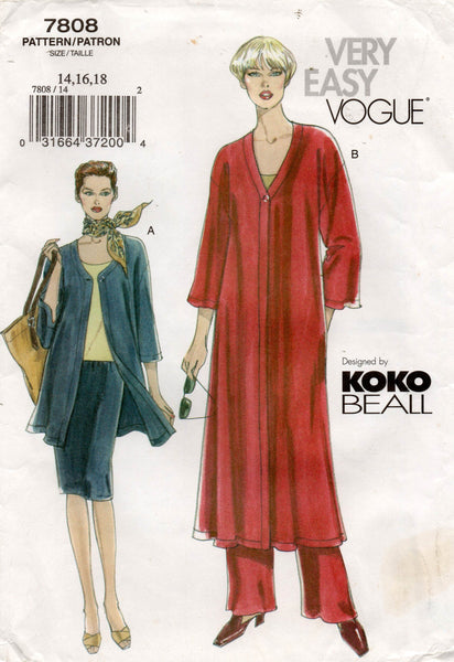vogue 7808 koko beall separates oop