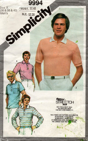 simplicity 9994 mens stretch tops