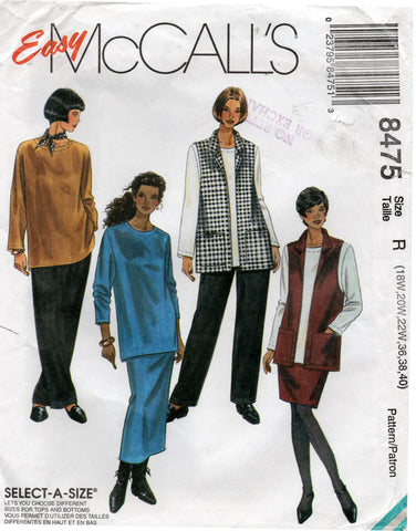 McCall's 8475 separates plus size