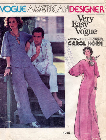 vogue 1215 carol horn caftan and pants