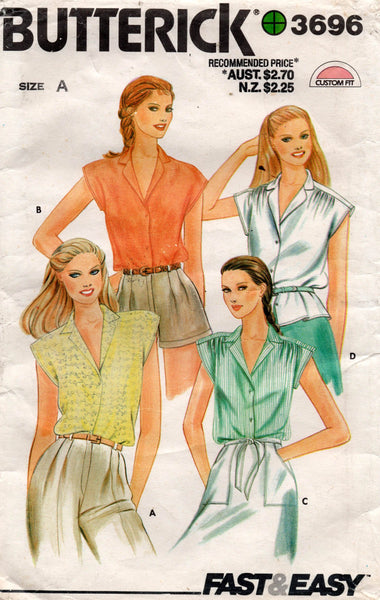 butterick 3696 80s blouses