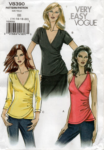 vogue 8390 oop tops
