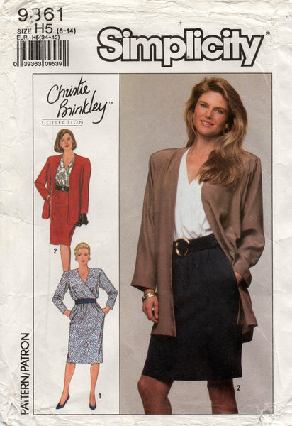 simplicity 9361 christie brinkley dress and jacket