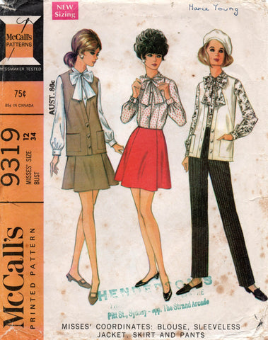 McCall's 9319 60s separates