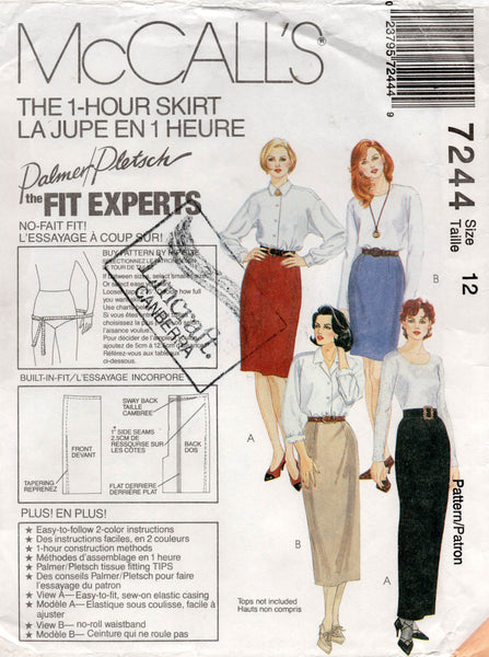 McCall's 7244 90s skirts