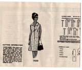 Mail Order 7400 Womens Zip Front Dress 1960s Vintage Sewing Pattern Bust 38 inches