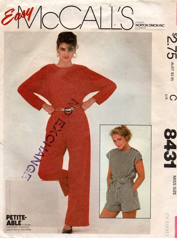 McCall's 8431 80s jumpsuit