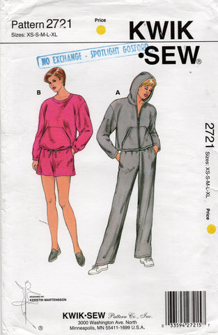 kwik sew 2721 90s tracksuit and shorts