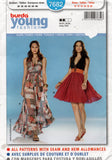 burda young 7682 full skirt halter dress oop